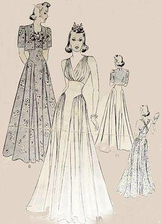 Vintage 30s Sewing Pattern Butterick 8443 Swing Era by sandritocat, $115.00