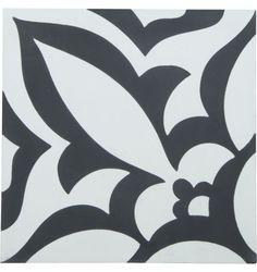 Imogen Encaustic Tile, Black & White