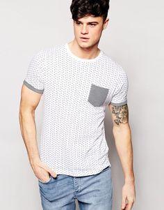 Brave Soul T-Shirt Stars and Pocket