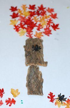 Wat kun je leuk knutselen met herfst materiaal. Zo heb ik een mooie herfstboom gemaakt. Herfst knutsel boom