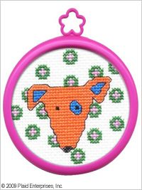 Bucilla ® My 1st Stitch™ - Counted Cross Stitch Kits - Mini - Dog. Beginner stitchers can create a quick and easy project. #crafts #knitting #plaid crafts