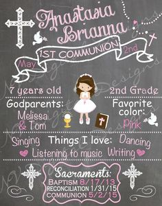 First Communion Chalkboard sign Communion by NVDigitalDesigns