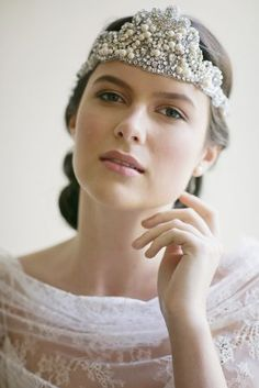 1920s bridal hair - #1920s #wedding headpiece inspiration