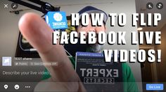 """Find out how to EASILY flip Facebook Live videos to correct the """"backward text"""" issue that lots of people and businesses are experiencing when doing live video on facebook.  https://www.shaneeubanks.com/how-to-flip-facebook-live-video/?utm_campaign=coschedule&utm_source=pinterest&utm_medium=Shane&utm_content=How%20to%20Flip%20Facebook%20Live%20Video%20-%20Fix%20Backward%20Text%20in%20Facebook%20Live"""