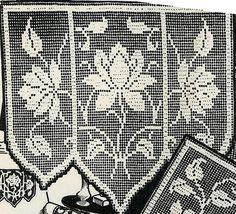 Vintage Crochet PATTERN 2802 Chair set Filet by BlondiesSpot, $3.99