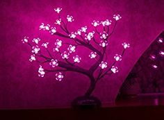 Amazon.com: Lightshare 16Inch 36LED Cherry Blossom Bonsai Light, Pink Light, Battery Powered and Plug-in Adapter (not included), Built-in timer, Décor for Home/Festival/Party/Christmas/Night Light: Home & Kitchen