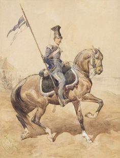 Uhlan of Lviv National Guard - Juliusz Kossak