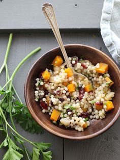 Autumn Couscous Salad is my favorite from Whole Foods, and I figured out how to make it at home #salad #recipe | foodiecrush.com
