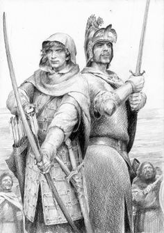 Beleg and Turin Turambar. Narn i Hin Hurin, Silmarillion. Denis Gordeev.