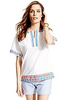 EMBROIDERED TUNIC $69.00