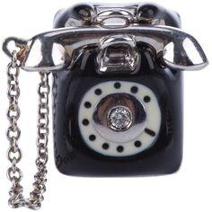 MISS BIBI telephone pin ($250) ❤ liked on Polyvore