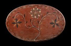 PAINT-DECORATED OVAL STORAGE BOX JACOB BARB, JR (1811-1864) SHENANDOAH COUNTY, VIRGINIA, DATED 1831