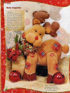 como hacer muñecos de navidad Hobbies For Kids, New Hobbies, Hobby World, Felt Crafts, Ideas Para, Reindeer, Teddy Bear, Christmas, Animals