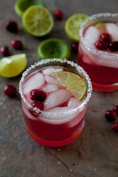 Cranberry Margaritas by annieseats #Cocktail #Margarita #Cranberry