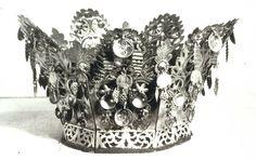 DigitaltMuseum - Bernåskrona, brudekrone fra Tinn i Telemark, laget ca Bridal Crown, All Art, Fascinator, Just In Case, Norway, Antique Jewelry, Traditional, Antiques, Crowns