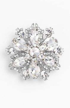Nina 'Treasure Floral' Crystal Brooch available at #Nordstrom #Nordstromweddings
