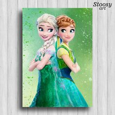 Hey, I found this really awesome Etsy listing at https://www.etsy.com/listing/291107515/elsa-and-anna-frozen-print-disney-frozen