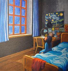 La noche estrellada/ Jimmy Liao (幾米,Illustrator, Taiwan)/ Barbara Fiore, 2009