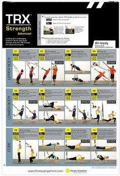 This simple exercise tool is rapidly appearing in every health club in the world. What is it that will quickly surpass the beloved balance ball-the TRX Suspension workout system. See the TRX posters. Suspension Workout, Trx Suspension Trainer, Suspension Training, Trx Training, Weight Training, Pilates Studio, Pilates Reformer, Pilates Yoga, Trx Workouts For Women