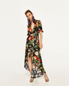 ZARA - WOMAN - LONG FLORAL PRINT DRESS