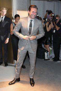 """Mad Men"" actor Jon Hamm attends the Tom Ford Spring 2017 fashion show during New York Fashion Week held at St. in New York City. Fashion 2017, New York Fashion, Fashion Show, Mad Men Actors, Jon Hamm, Best Dressed Man, Big Men, Tom Ford, Men Dress"