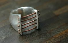 Barred ring from Margot Wolf Jewelry - margotwolf.com