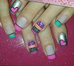 Shellac Nails, Toe Nails, Nail Polish, Manicures, Finger, Nail Patterns, French Tip Nails, Nail Decorations, Cool Nail Designs
