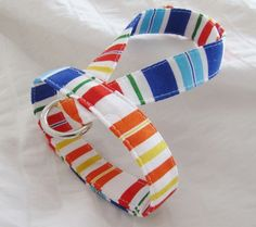 Small dog harness velcro close Summer stripe1 by ParkAvenueDogs, $10.00