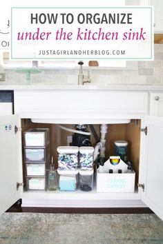 Home Organization- How to Organize Under the Kitchen Sink Kitchen Organization Organized Kitchen organized cleaning supplies organizing underneath the sink cabinet organization organized organizing decluttering Under Kitchen Sink Organization, Under Kitchen Sinks, Bathroom Cabinet Organization, Sink Organizer, Kitchen Sink Faucets, Kitchen Organization, Organized Kitchen, Kitchen Cleaning, Bathroom Cabinets