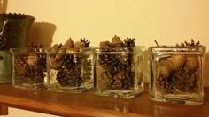 Dekoration diy, autumn Diy Autumn, Candle Holders, Candles, Decorations, Candlesticks, Candelabra, Candle, Lights, Candle Stands