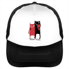 Me Plus You Best Romantic Cat Couples Hat Valentine Sun Hat Or Cap For Couples