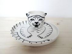Keramik Iris DegenZmorgen Set MABU / Tiger