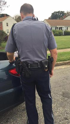 Facing the police can be both reassuring and, let's face it, scary. For one woman who was recently stopped by a policeman on her way to a job interview, the mee