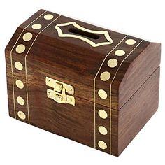 Boîte en bois fabriqués à la main Treasure Chest Coffre Bureau de Piggy Bank 12,7 cm x 9 cm ShalinIndia http://www.amazon.fr/dp/B00L482JJW/ref=cm_sw_r_pi_dp_VXKJvb0MM40HF