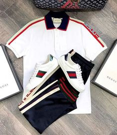 Dope Outfits For Guys, Swag Outfits Men, Gucci Outfits, Casual Outfits, Fashion Outfits, Teen Boy Fashion, Dope Fashion, Mens Fashion, Polo Outfit
