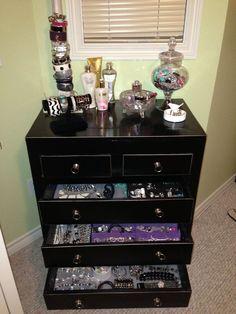 jewelry dresser   My jewelry dresser finally organized   Master Bath