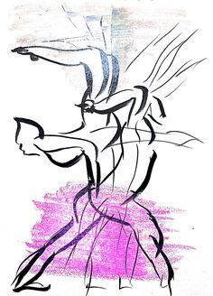 춤동작과 그것이 주는 느낌을 색깔로써 표현해보았다.