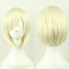 Short Bob Blonde Synthetic Heat Resistant Cosplay Wig - free shipping worldwide