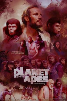 """Releasing this limited edition print Inspired by Franklin J. Schaffner's Classic """"Planet of the Apes"""" Get them Here 'Planet of the Apes' This film, directed by Franklin J. Sci Fi Movies, Horror Movies, What Is An Artist, Movie Synopsis, Fanart, Cinema, Planet Of The Apes, Alternative Movie Posters, Movie Poster Art"""