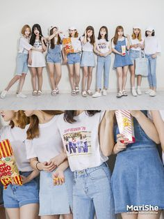 Similar Look by Color The Similar Look: Popular fashion trend in Korea Twinning with your girlfriends without actually looking l. Korean Fashion Trends, Korean Street Fashion, Korea Fashion, Asian Fashion, Fashion Group, Pop Fashion, Girl Fashion, Fashion Looks, Fashion Outfits