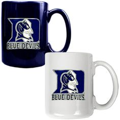 Duke University NCAA 2-pc Ceramic Mug Set | Man Cave Kingdom