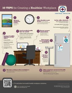 Office Safety: 10 tips on how to make the workplace more healthier. Corporate Wellness Programs, Employee Wellness, Workplace Wellness, Fitness Programs, Office Safety, Workplace Safety, Health Tips, Health And Wellness, Health Fitness