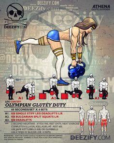 leg workout: single leg deadlift athena More