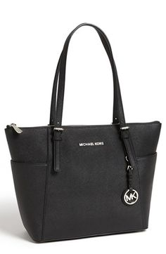 Timeless. MICHAEL Michael Kors 'Jet Set' Leather Tote available at #Nordstrom