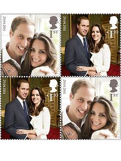 official Royal Wedding commemorative stamps