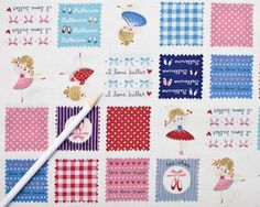 Ballerina  Trefle HA4260  pink squares from Kokka by JAQSFabrics, $18.00 Best quilt fabric for Myla YAY!!!!