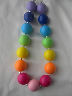 Bubble Gum- Childrens Chunky Bead Necklace