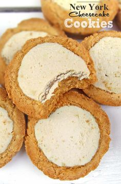 New York Cheesecake Cookies | www.sugarapron.com | A Great Light #Cheesecake #CookieBite.