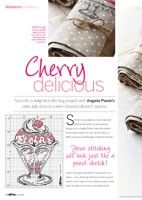 """Gallery.ru / tymannost - album """"Cross Stitch Collection 236 June 2014"""" Cherry Delicious 1 of 3"""
