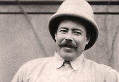 """Pancho Villa 1878 - 1923 - Francisco """"Pancho"""" Villa was originally Doroteo Arango, but Pancho caught on better with anyone who felt like joining him in the fight that originally had the aim to get rid of Mexican dictator  Porfirio Díaz."""
